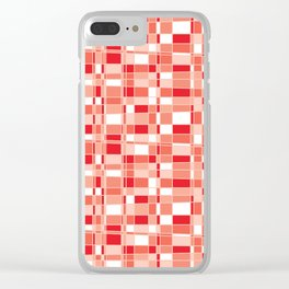 Mod Gingham - Red Clear iPhone Case