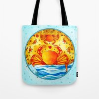 cancer Tote Bags featuring Cancer by Sandra Nascimento