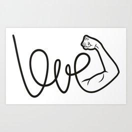 Love Is The Power Art Print
