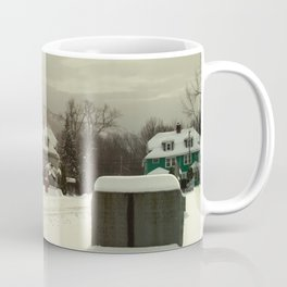 Mt. Tom in the snow Coffee Mug