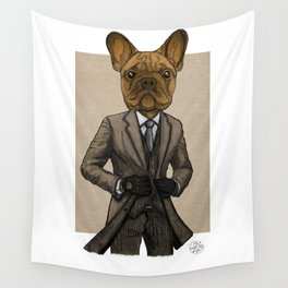 Much Handsome, Dapper Doge Wall Tapestry