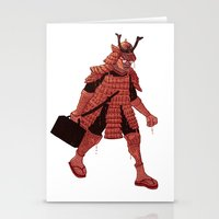 samurai Stationery Cards featuring Samurai by edusá studio