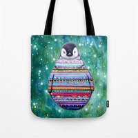 penguin Tote Bags featuring penguin by beart24