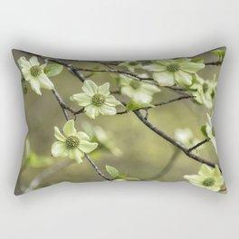 Green Kousa Dogwood Rectangular Pillow