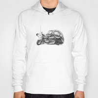 cafe racer Hoodies featuring Cafe Racer II by Rainer Steinke