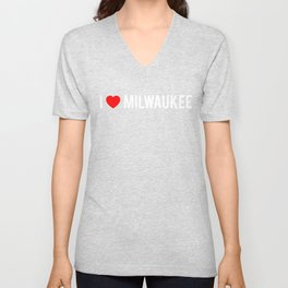 I Love Milwaukee Pride Country Vacation Unisex V-Neck