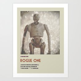 Rogue One Retro Poster VI Art Print