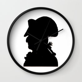 Pirate silhouette Wall Clock