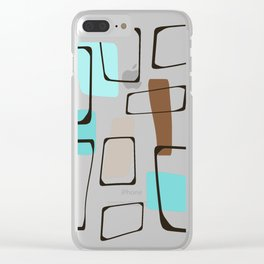 Midcentury Modern Shapes Clear iPhone Case