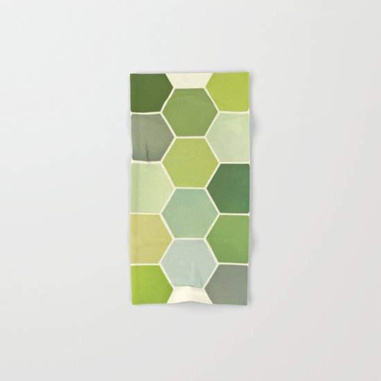 Shades of Green Hand & Bath Towel