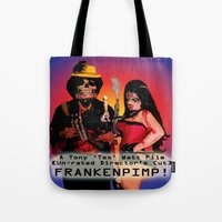 movie poster Tote Bags featuring Frankenpimp (2009) - Movie Poster by Tex Watt