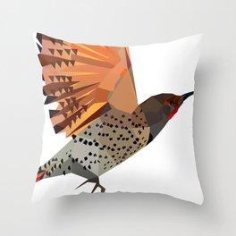 Flying bird Flicker Geometric Nature Throw Pillow