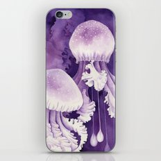Purple Jellyfish iPhone & iPod Skin