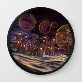 Out to Sea on Another Planet Wall Clock