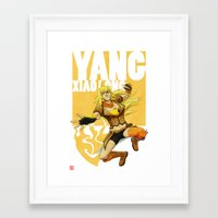 roosterteeth Framed Art Prints featuring RWBY - Yang Xiao Long by no_whit