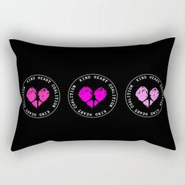 Kind heart coalition vegan activism Rectangular Pillow