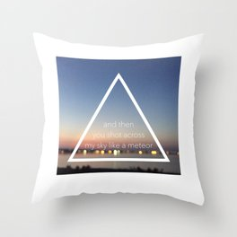 Like a Meteor Throw Pillow