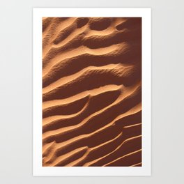 White Wash Sand Dunes Art Print