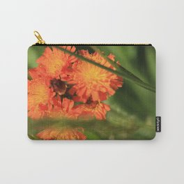 Orange Hawkweed Wildflowers Carry-All Pouch