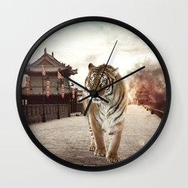 Tiger Mattepainting Wall Clock