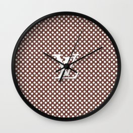 LV Polka Pattern Brown Wall Clock