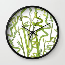 Bamboos Wall Clock