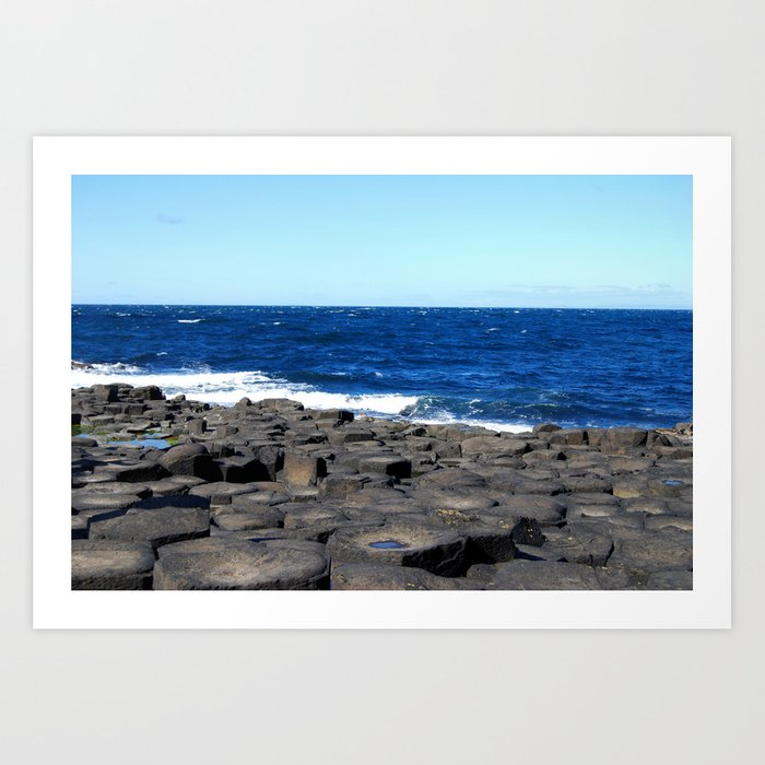 Gigant's Causeway. Antrim Coast. Northern Ireland Art Print