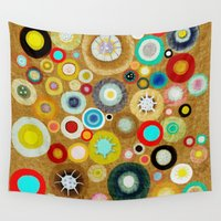 contemporary Wall Tapestries featuring Contemporary Circles by Ruth Fitta Schulz