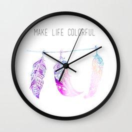 Triple Feathers Wall Clock