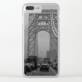 George Washington Bridge Traffic Clear iPhone Case