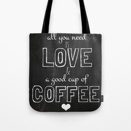 Love and coffee Tote Bag
