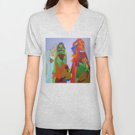 Festa do Rosario, Colorful Art, Brazil, Parade, Headdress and Drums Unisex V-Neck