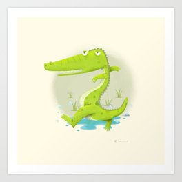 Croco Art Print