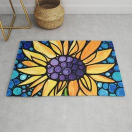 Standing Tall - Sunflower Art By Sharon Cummings Rug