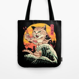 Neko Sushi Wave Tote Bag