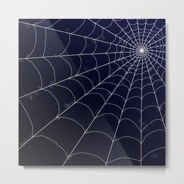 Spiderweb on Midnight Metal Print
