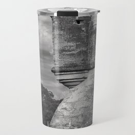 Castillo de San Marcos - black and white Travel Mug