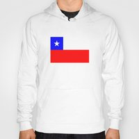 chile Hoodies featuring Chile country flag by tony tudor
