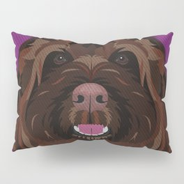 Icons of the Dog Park Labradoodle Design in Bold Colors for Pet Lovers Pillow Sham
