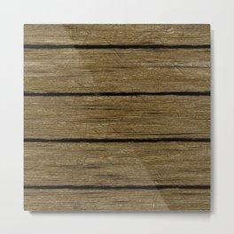 rustic wood planks Metal Print