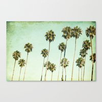 palm trees Canvas Prints featuring palm trees by Mareike Böhmer