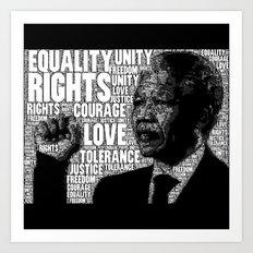 Mandela tribute Art Print