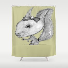 NORDIC ANIMAL  - SUZY THE SQUIRREL  / ORIGINAL DANISH DESIGN bykazandholly Shower Curtain