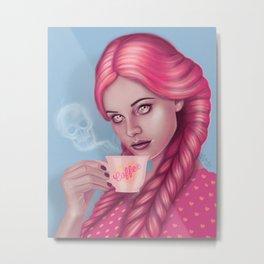 My Blood Type is Coffee Metal Print