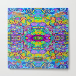 Klimt Tree of Life Mandala Metal Print