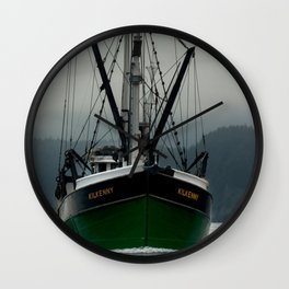 Commercial Fishing Boat Photography Print Wall Clock