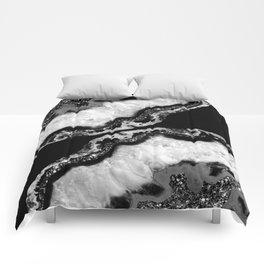 Yin Yang Agate Glitter Glam #4 #gem #decor #art #society6 Comforters