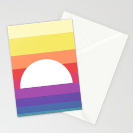 saturday sunset Stationery Cards