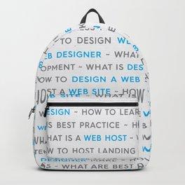 Blue Web Design Keywords Poster Backpack