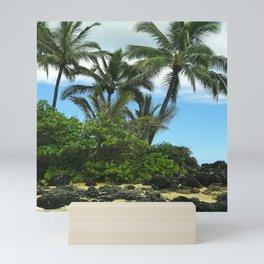 Tropical Hawaiian Beach in Pristine Paradise Mini Art Print
